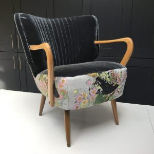 1950's cocktail chair in Timerous beasties fabric