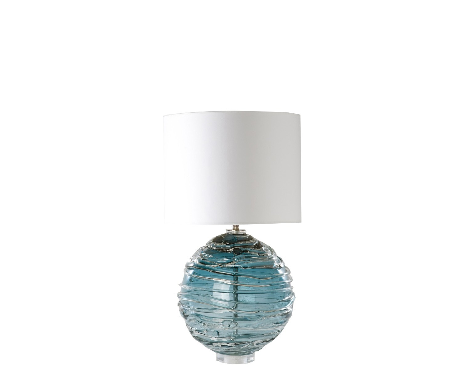 Image of: Nerys Table Lamp Turquoise With Drum Shade Jane Cappleman